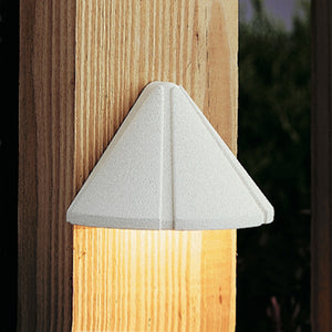 Six Groove 1 Light Deck Landscape Lighting in Textured White Finish by Kichler 15065WHT