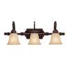 Capital Lighting Barclay 1523CB-287 3 Light Bathroom Vanity in Chesterfield Brown