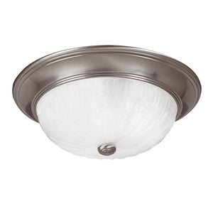 Flush Mount 3 Light Flush Mount  in Satin Nickel Finish by Savoy House 15264-SN