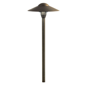 1 Light Path & Spread Landscape Lighting in Centennial Brass Finish by Kichler 15310CBR