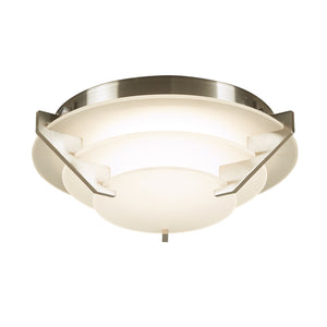 PLC Lighting 1542SN Palladium Collection 1 Light Ceiling Mount in Satin Nickel Finish