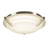 PLC Lighting 1544SN Palladium Collection 1 Light Ceiling Mount in Satin Nickel Finish