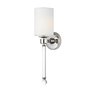 Maxim Lighting 16109WTCLPN Lucent-Wall Sconce in Polished Nickel