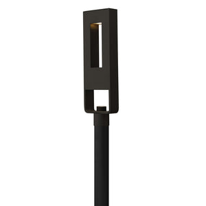 Atlantis Outdoor Post Mount by Hinkley 1641SK Satin Black