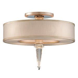 Harlow 4 Light Semi-Flush By Corbett 166-34 in Tranquility Silver Leaf Finish