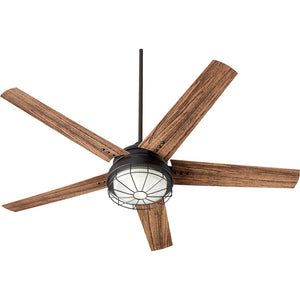 Westland 2 Light Patio Fan in Noir Finish 16605-69