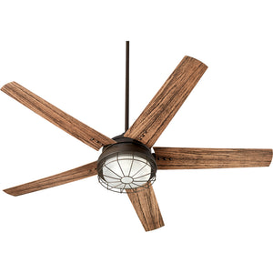 Westland 2 Light Patio Fan in Oiled Bronze Finish 16605-86