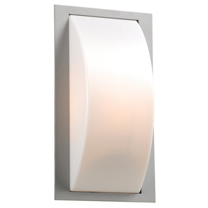 PLC Lighting 1742 SL Breda Collection 1 Light Exterior in Silver Finish
