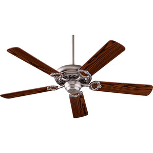Monticello Ceiling Fan in Satin Nickel Finish 17525-6522