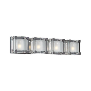 PLC Lighting 18144 PC Corteo Collection 4 Light Vanity in Polished Chrome Finish