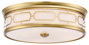 5 Light Flush Mount In Liberty Gold Finish by Minka Lavery 1826-249