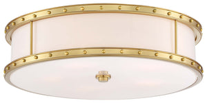 5 Light Flush Mount In Liberty Gold Finish by Minka Lavery 1827-249