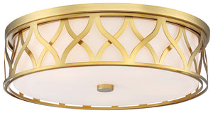 5 Light Flush Mount In Liberty Gold Finish by Minka Lavery 1840-249