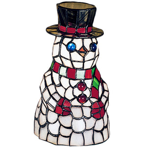 "8.5""H Snowman Accent Lamp by Meyda 18461"
