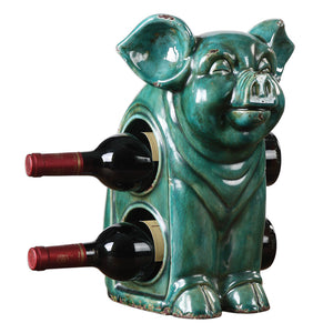 Uttermost Oink Ceramic Wine Holder 18757
