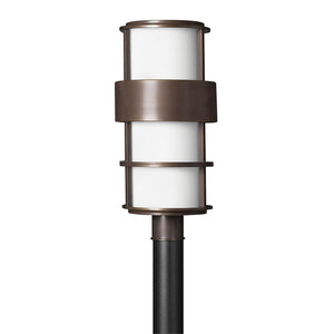 Saturn Outdoor Post Mount by Hinkley 1901MT-LED Metro Bronze