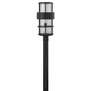 Saturn Outdoor Post Mount by Hinkley 1901SK Satin Black