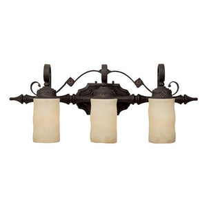 Capital Lighting River Crest 1903RI-125 3 Light Bathroom Vanity in Rustic Iron