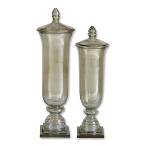 Uttermost Gilli Glass Decorative Containers, Set/2 19148