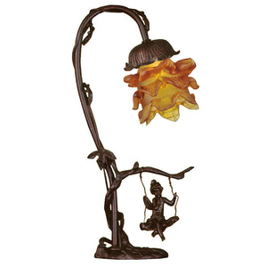 "16""H Cherub On Swing Accent Lamp by Meyda 196519"