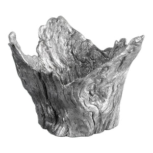 Uttermost Massimo Wood Textured Silver Bowl 20149