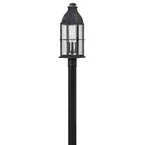 Bingham Outdoor Post Mount by Hinkley 2041GS Heritage Greystone