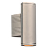 PLC Lighting 2055SL Lenox-I Collection 2 Light Exterior in Silver Finish