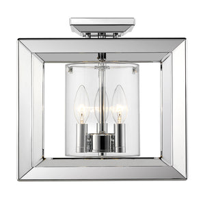 Smyth CH Semi-Flush (Low Profile) (Chrome & Clear Glass) by Golden Lighting 2074-SF12 CH-CLR