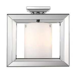 Smyth CH Semi-Flush (Low Profile) (Chrome & Opal Glass) by Golden Lighting 2074-SF12 CH-OP