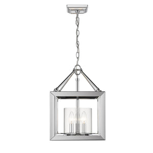 Smyth CH Semi-Flush (Convertible) (Chrome & Clear Glass) by Golden Lighting 2074-SF CH-CLR