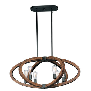 Maxim Lighting 20915APAR/BUI Bodega Bay-Multi-Light Pendant in Anthracite