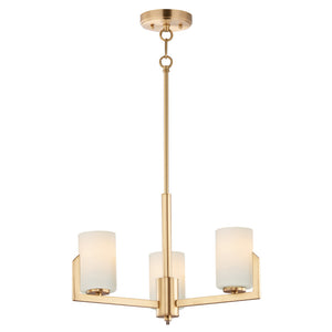Maxim Lighting 21285SWSBR Dart-Mini Chandelier in Satin Brass