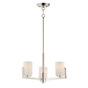 Maxim Lighting 21285SWSN Dart-Mini Chandelier in Satin Nickel