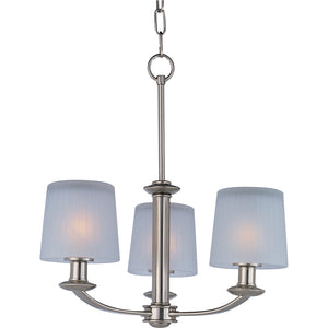 Maxim Lighting 21504FTSN Finesse-Mini Chandelier in Satin Nickel