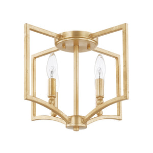 Capital Lighting Regan 219441CG 4 Light Flush Mount in Capital Gold