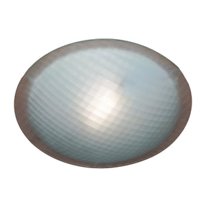 PLC Lighting 22219 RU Nuova Collection 1 Light Ceiling in Rust Finish