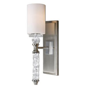 Uttermost Campania 1 Light Carved Glass Sconce 22486