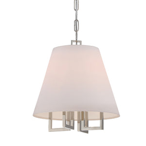 Crystorama 2254-PN Libby Langdon for Crystorama Westwood 4 Light Nickel Chandelier