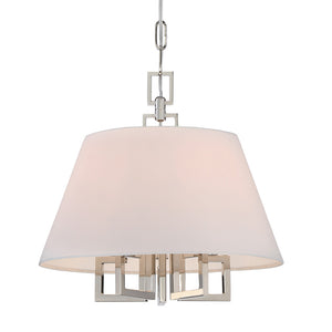 Crystorama 2255-PN Libby Langdon for Crystorama Westwood 5 Light Polished Nickel Mini Chandelier