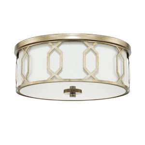Capital Lighting  228131WG-683 3 Light Flush Mount in Winter Gold