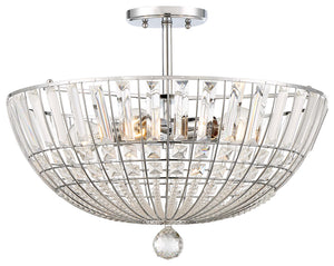 Braiden 5 Light Semi Flush Mount In Chrome Finish by Minka Lavery 2346-77