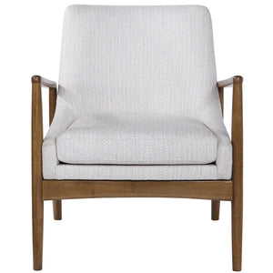 Uttermost Bev White Accent Chair 23519