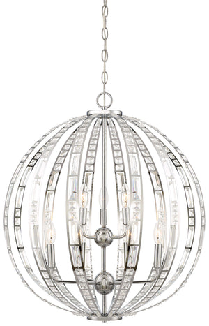 Palermo 9 Light Pendant In Chrome Finish by Minka Lavery 2378-77