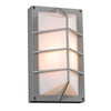 PLC Lighting 2400 SL Expo Collection 1 Light Exterior in Silver Finish