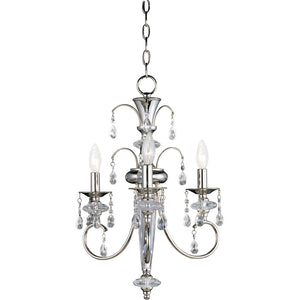 Maxim Lighting 24303CLPN Montgomery-Mini Chandelier in Polished Nickel