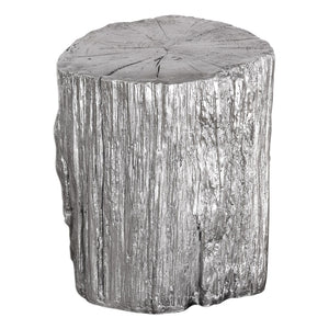 Uttermost Cambium Silver Tree Stump Stool 24663