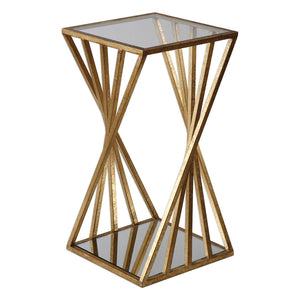 Uttermost Janina Gold Dimensional Accent Table 24723