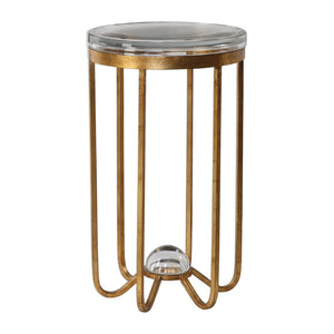 Uttermost Allura Gold Accent Table 24776