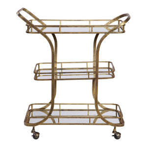 Uttermost Stassi Gold Serving Cart 24876