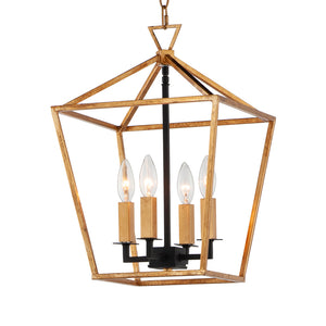 Maxim Lighting 25152GLTXB Abode-Chandelier in Gold Leaf / Textured Black